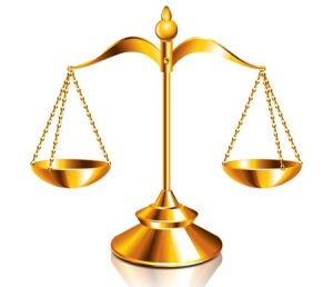 26056190 - scales of justice isolated on white vector illustration