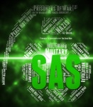 44734657 - sas word representing special air service and special forces