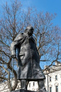 55274608 - statue of winston churchill in parliament square