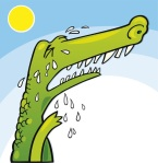 5892231 - crying crocodile