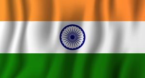 India realistic waving flag vector illustration. National countr