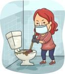 Girl Plumb Dirty Toilet