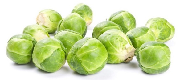 13126964 - fresh green brussels sprouts isolated on white background