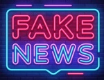 Fake News neon sign vector. Breaking News Design template neon sign, light banner, neon signboard, nightly bright advertising, light inscription. Vector illustration