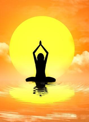 Yoga Silhouette Background