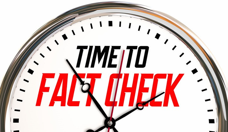 Time to Fact Check Dispel Rumors Find Truth Clock 3d Illustration