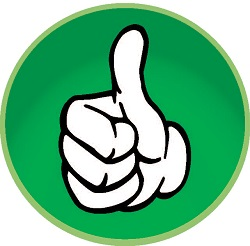 Thumbs logo - green