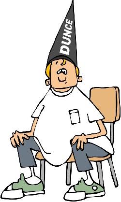 50349497 - boy wearing a dunce hat